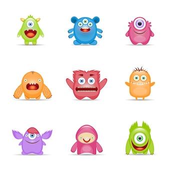 Conjunto de personajes de monstruo