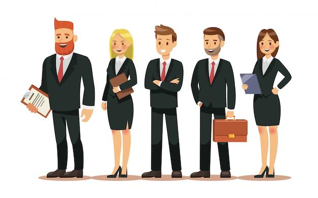 Conjunto de personajes de personas para negocio.