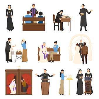 Conjunto de personajes de religión