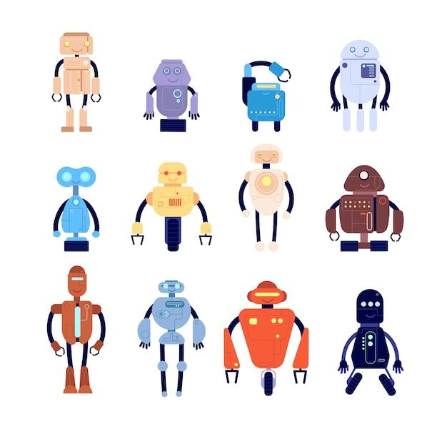Conjunto de personajes de robot