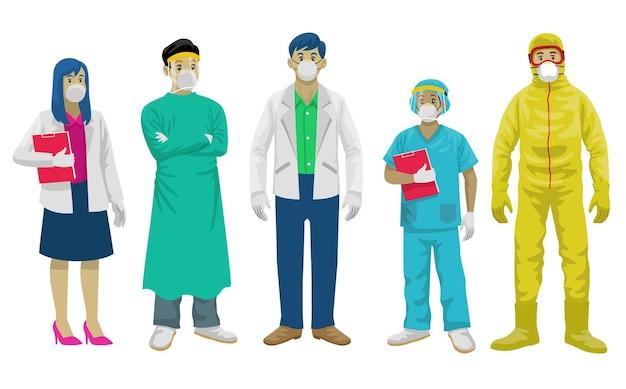 Conjunto de personal médico [convertido]