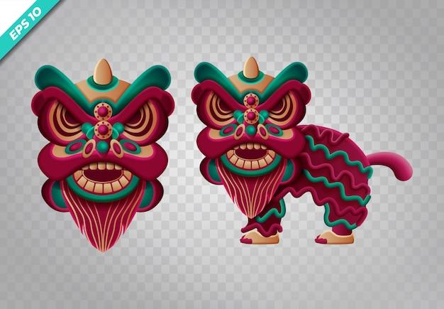 Conjunto personalizado de dragón chino