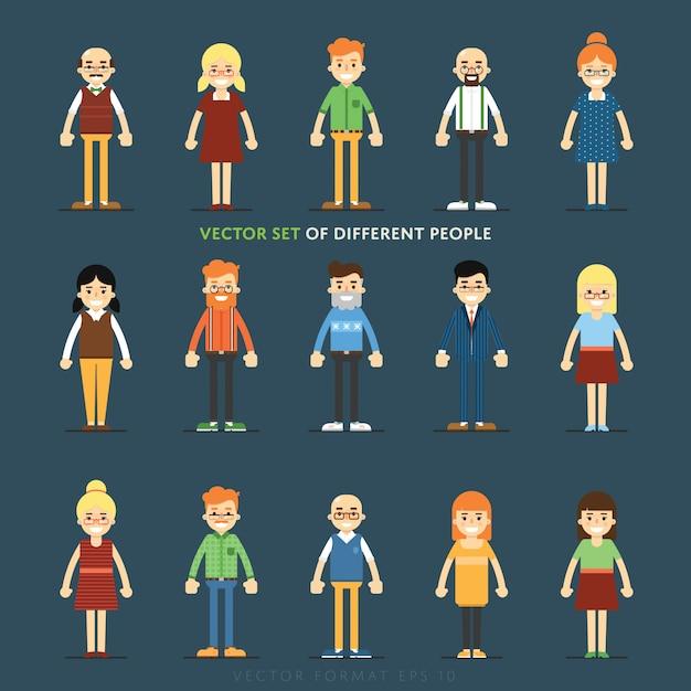 Conjunto de personas avatar