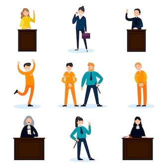 Conjunto de personas en la corte