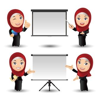 Conjunto de personas empresarios árabes