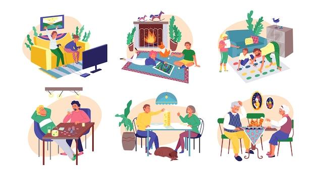 Conjunto de personas jugando al tablero.