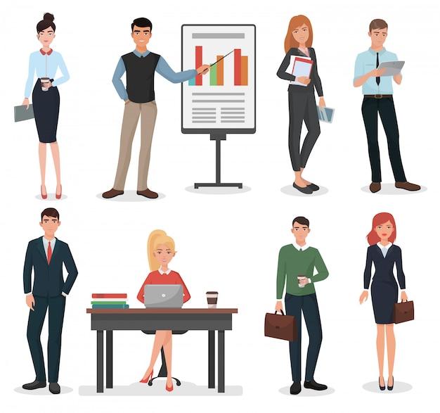 Conjunto de personas de negocios de oficina