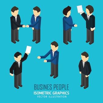 Conjunto de personas de negocios