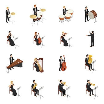 Conjunto de personas de orquesta