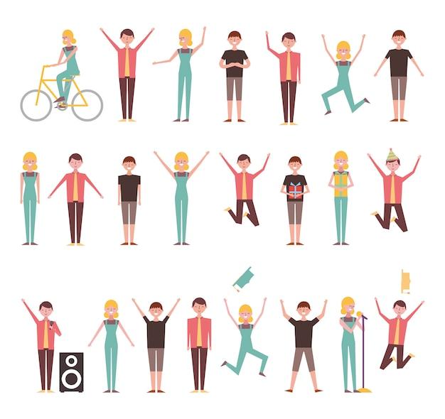Conjunto de personas que realizan actividades