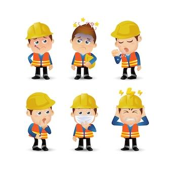 Conjunto de personas trabajador de profesión