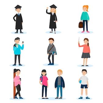 Conjunto de personas en la universidad