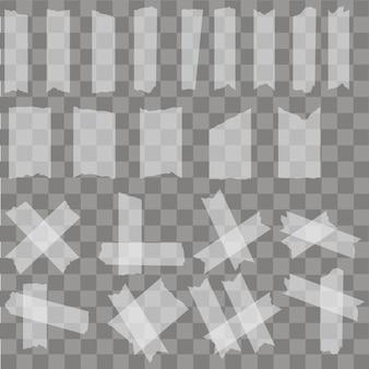 Conjunto de piezas adhesivas de cinta adhesiva adhesiva