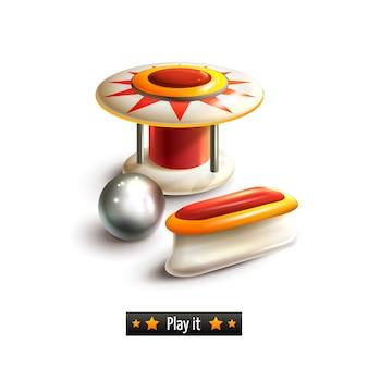Conjunto de pinball aislado