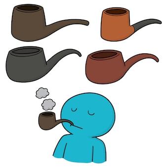 Conjunto de pipa de fumar