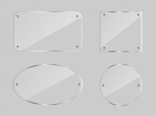 Conjunto de placa de vidrio en blanco