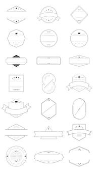 Conjunto de placas en blanco