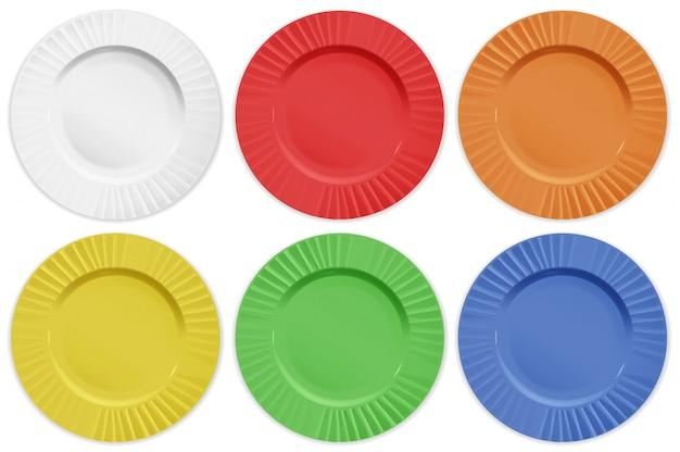 Conjunto de placas de diferentes colores