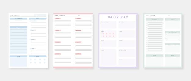 Conjunto de planificador y lista de tareas