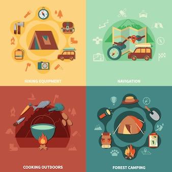 Conjunto plano de camping