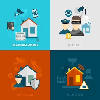 Conjunto plano de seguridad para el hogar