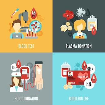 Conjunto plano donante