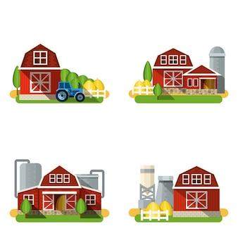 Conjunto plano de granja