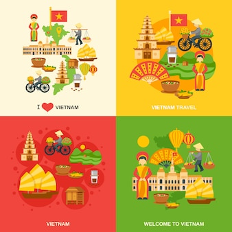 Conjunto plano de vietnam
