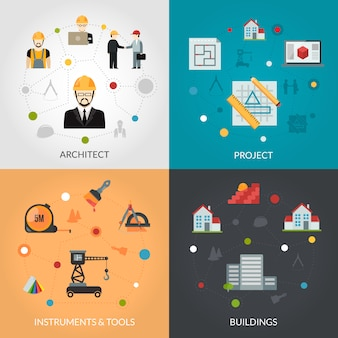 Conjunto de planos de arquitecto