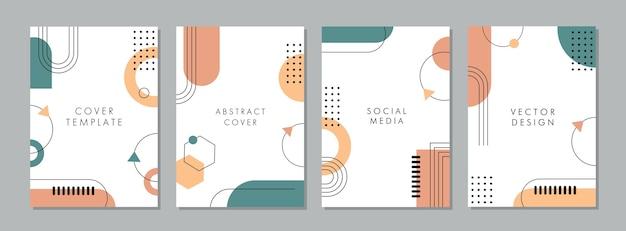 Conjunto de plantilla artística creativa abstracta para portada