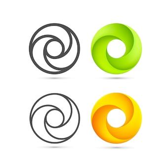 Conjunto de plantilla de bucle infinito abstracto. ilustración vectorial