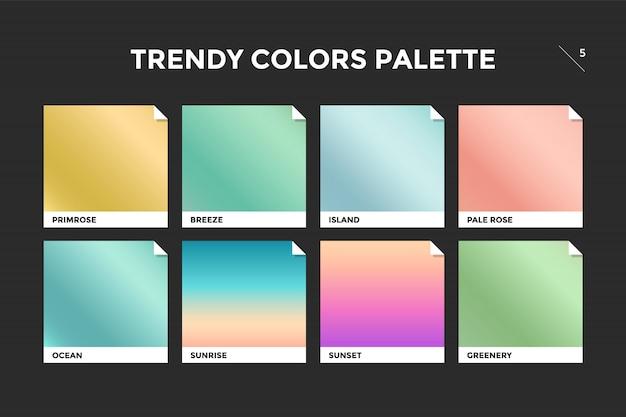 Conjunto de plantilla de degradado de moda colorido