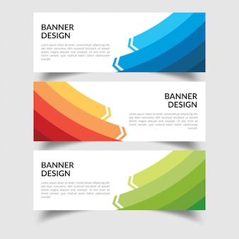 Conjunto de plantilla de diseño de banner plano creativo