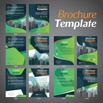 Conjunto de plantilla de diseño de folleto de negocios folleto diseño