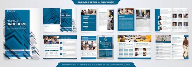 Conjunto de plantilla de folleto comercial minimalista