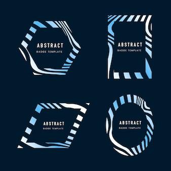 Conjunto de plantilla de insignia abstracta azul