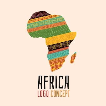 Conjunto de plantilla de logotipo de áfrica creativa
