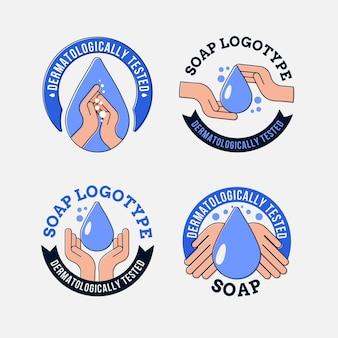 Conjunto de plantilla de logotipo de bebé