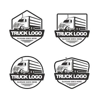 Conjunto de plantilla de logotipo de camión