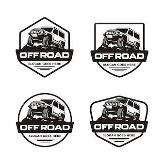 Conjunto de plantilla de logotipo de coche de carretera