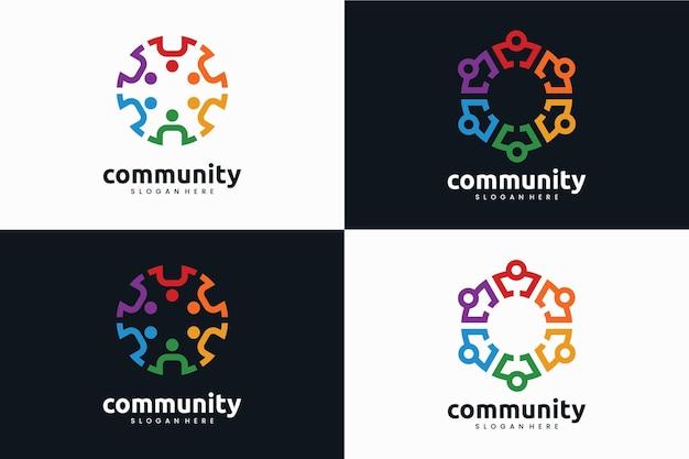 Conjunto de plantilla de logotipo de la comunidad
