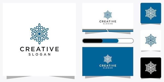 Conjunto de plantilla de logotipo creativo