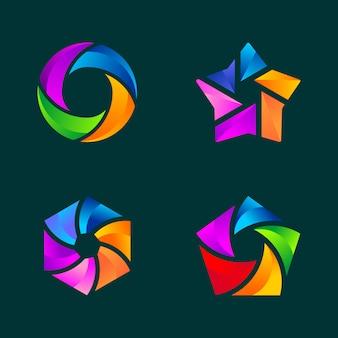 Conjunto de plantilla de logotipo de negocio abstracto