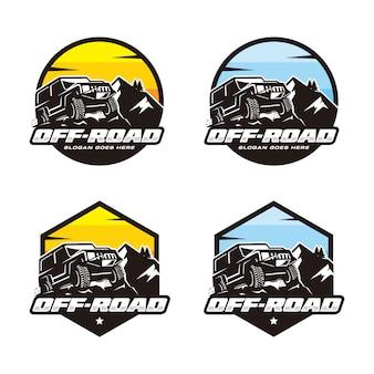 Conjunto de plantilla de logotipo off road