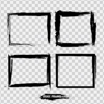 Conjunto de plantilla de marco de grunge.