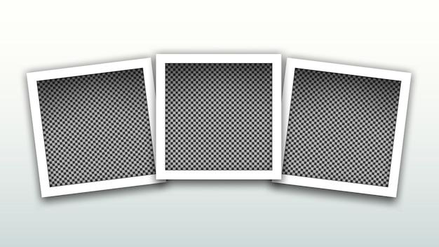 Conjunto de plantilla de marcos cuadrados