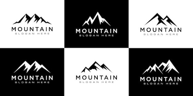 Conjunto de plantilla de vector de logotipo de montaña