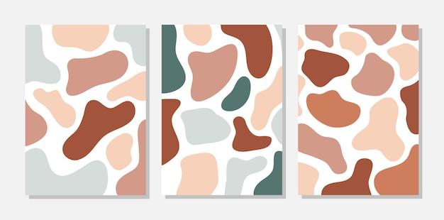 Conjunto de plantillas abstractas de terracota