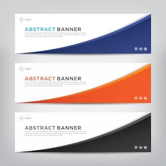 Conjunto de plantillas de banner abstracto corporativo