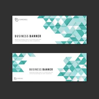 Conjunto de plantillas de banner abstracto de negocios